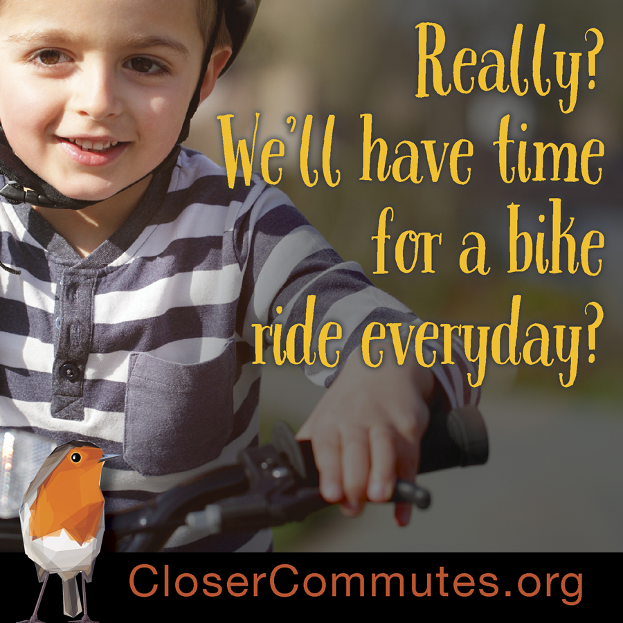 Having quality time for parenting is precious. Closer commutes are important for families.
