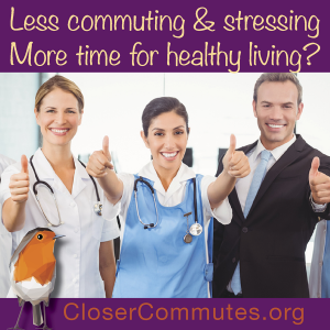 Research links closer commutes with better physical and mental health. Together we can eliminate so much unnecessary waste.